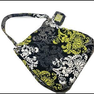 Vera Bradley Baroque Green Black Grey Tote Handbag